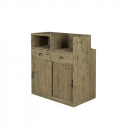 Comptoir de caisse TRADIS en bois massif 2 portes 2 tiroirs