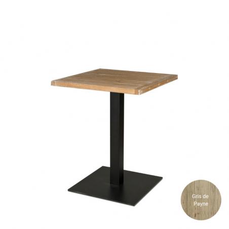 Table carrée en bois massif pour restaurants et cafés