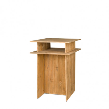 Wooden high table, Solid Wood