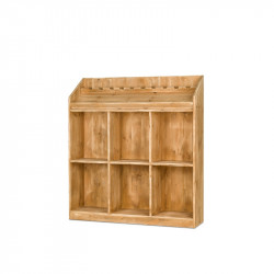 6-cube wine rack display, Solid Wood