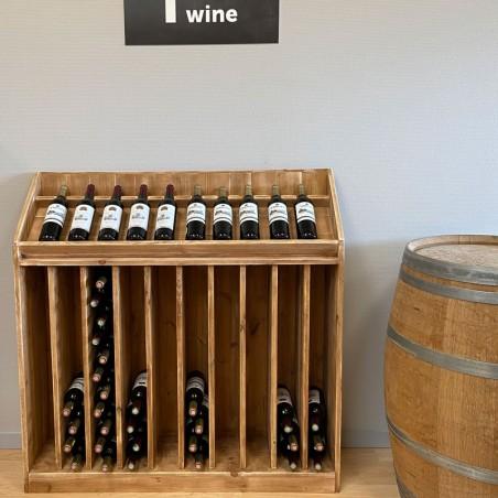 Présentoir à vin TRADIS en bois massif 10 rangées