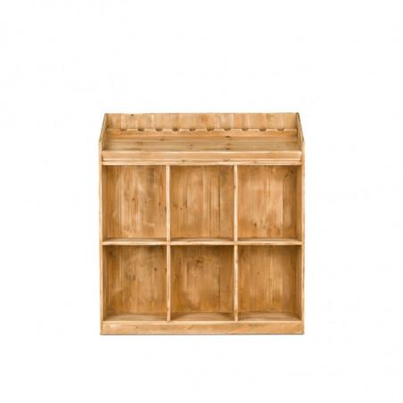 6-cube wine rack display, Solid Wood