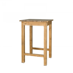 Square high bar table with...
