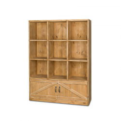 9-cube shelf unit 2 doors,...
