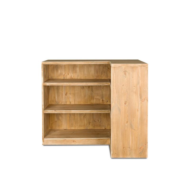 Comptoir de magasin avec angle, bois massif