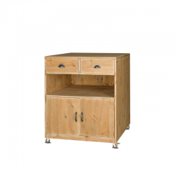 Wooden service trolley, 2...