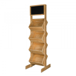 4-tier wooden display stand...