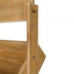 Présentoir 4 casiers, fronton d'affichage, bois massif