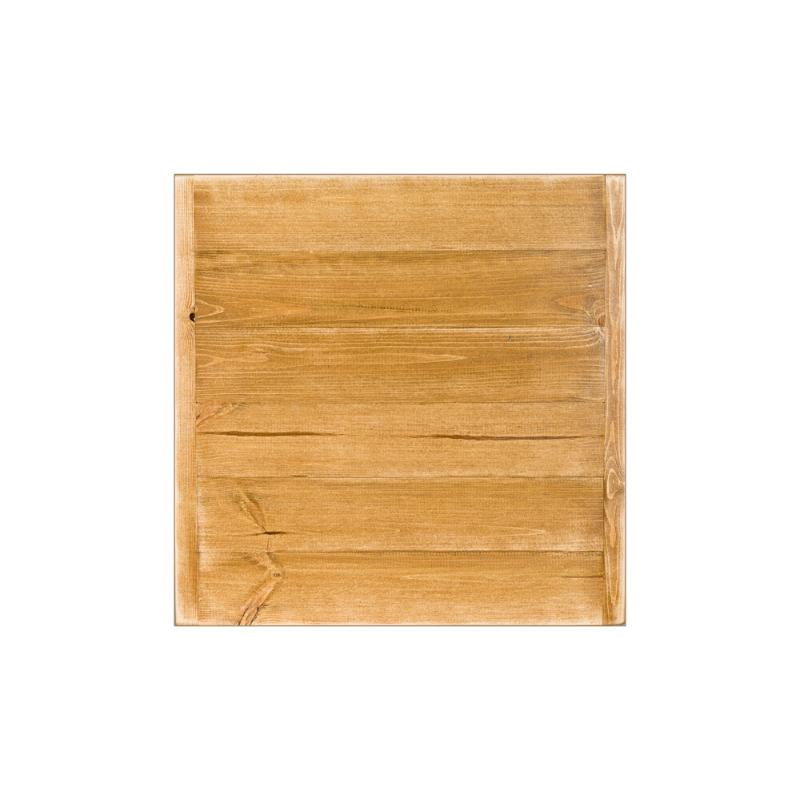Plateau de table carré L60 cm, bois massif