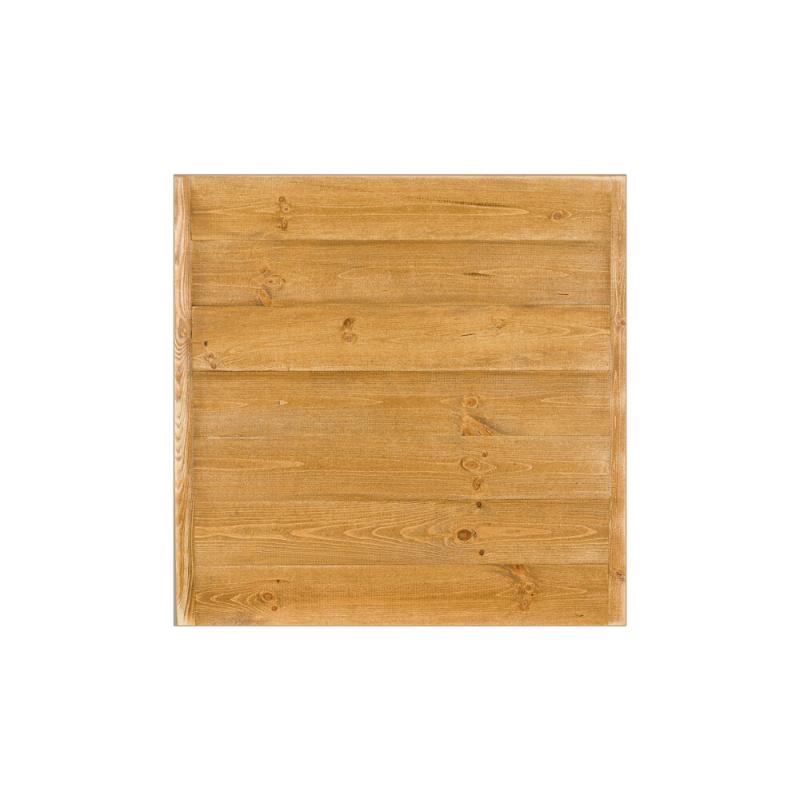 Plateau de table carré L70 cm, bois massif