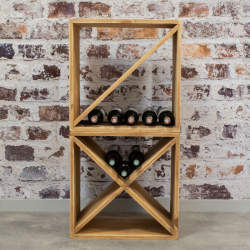 Casier à vin, capacité 32 bouteilles, bois massif