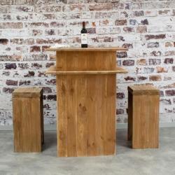 Table de dégustation caviste, bois massif