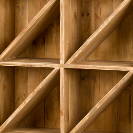 Séparateurs amovibles de casier, lot de 3, bois massif