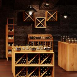 Casier à vin, capacité 24 bouteilles, bois massif