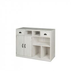 Comptoir de magasin TRADIS en bois massif 2 portes 2 tiroirs