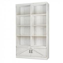 8-cube shelf unit 2 cupboards, solid wood