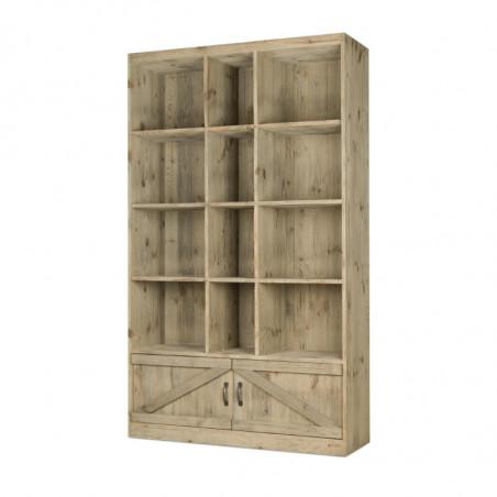 12-cube shelf unit 2 cupboards, solid wood