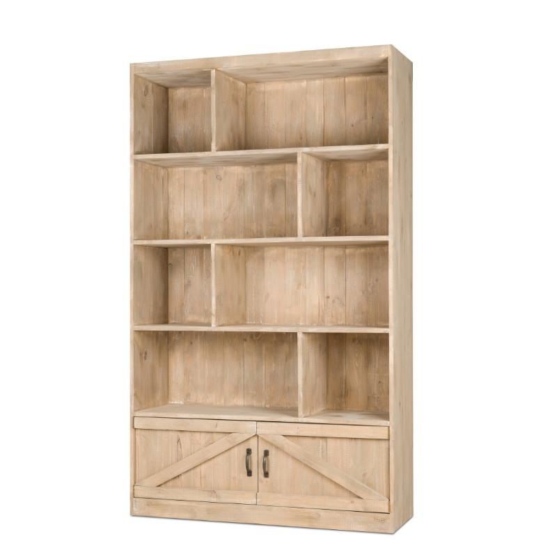 8-cube shelf unit 2 doors H200, solid wood