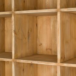 Étagère 15 casiers, bois massif