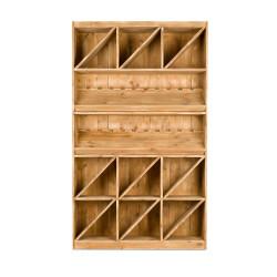 Étagère à vin capacité 200 bouteilles TRADIS Bois Vieilli