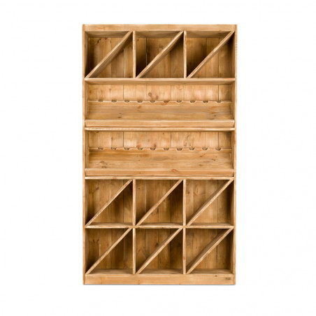 Wine rack 200 bottles capacity, solid wood