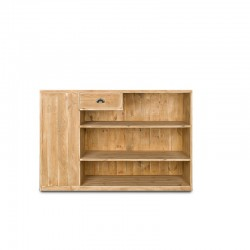 Double sided wooden shop counter