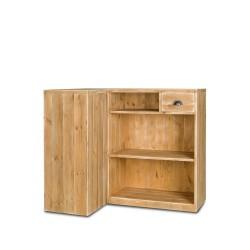 Comptoir d'angle modulable en bois massif