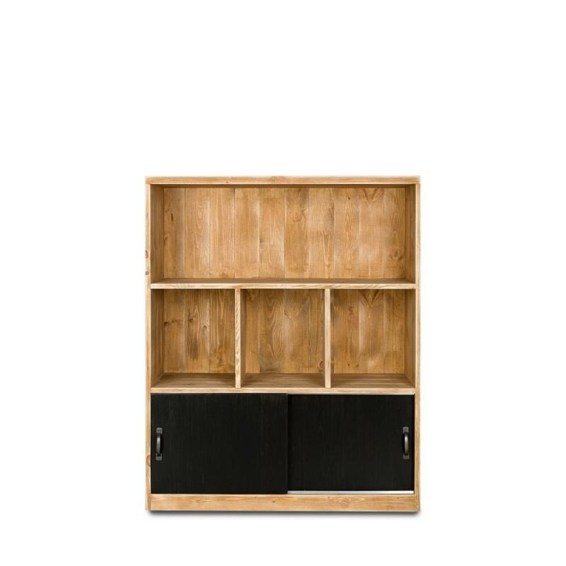 Etagère 4 casiers collection HATCH en bois massif