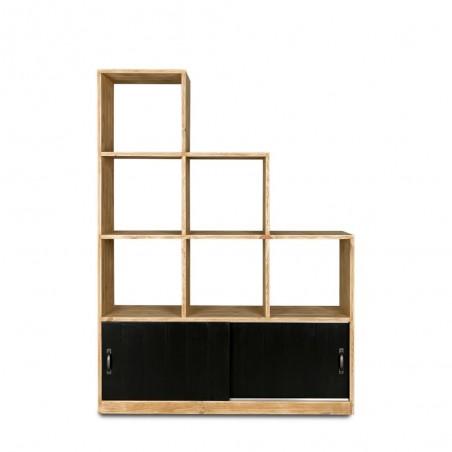 Etagère escalier 6 casiers collection HATCH en bois massif