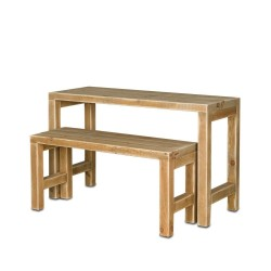 Table gigogne, lot de 2 en bois massif