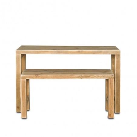 Table gigogne, lot de 2 en bois massif
