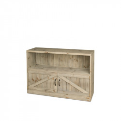 shelf unit 2 doors, solid wood