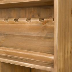Étagère à vin basse TRADIS capacité 140 bouteilles en bois massif H 150 cm