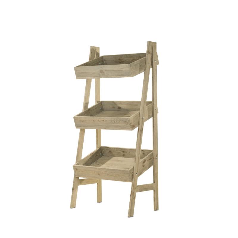 3-tier vegetable display rack, Solid wood