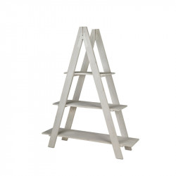 3-tier wooden ladder shelf unit, Solid wood