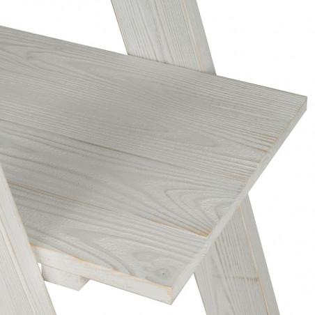 Étagère échelle 3 niveaux TRADIS en bois massif