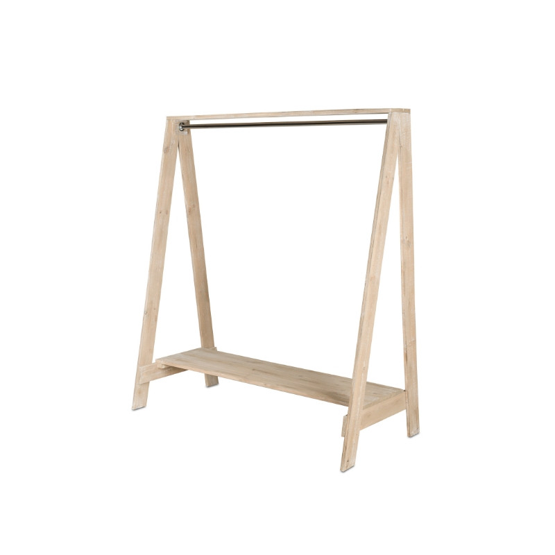 Wooden clothes rail, Solid wood