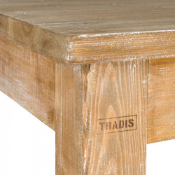 Square high bar table, Solid Wood