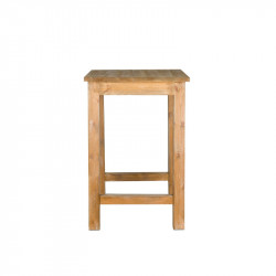 Square high bar table with footrest, Solid Wood