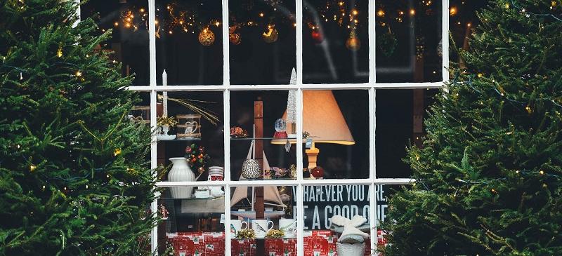 vitrine de noël magasin